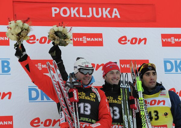 Эмиль Свендсен, Яков Фак и Мартен Фуркад (слева направо)
