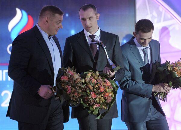 Владимир Алекно, Сергей Тетюхин и Александр Соколов (слева направо)