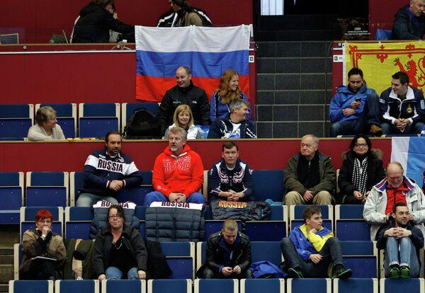 Болельщики сборной России по керлингу