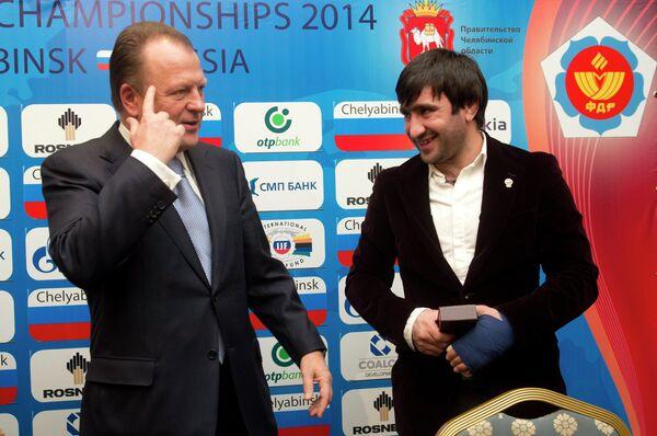 Мариус Визер (слева) и Мансур Исаев
