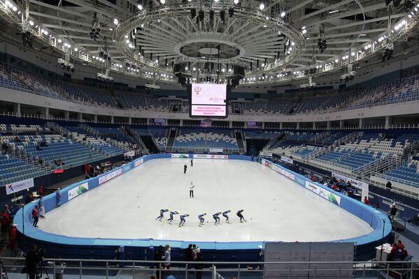 Спортсменки принимают участие в соревнованиях суперфинала