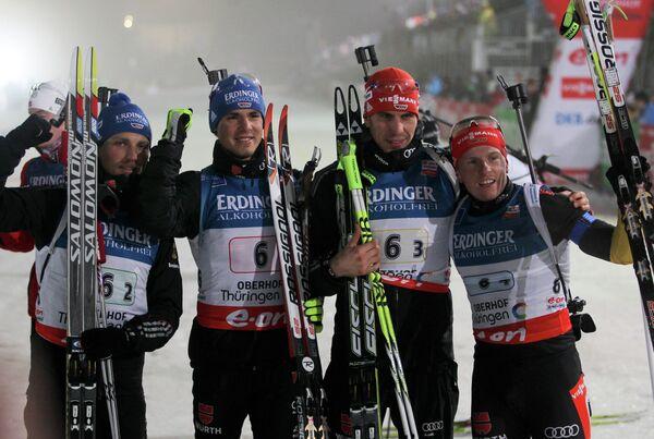 Эрик Лессер, Симон Шемп, Арнд Пайффер, Флориан Граф (слева направо)