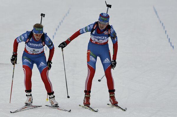 Ольга Зайцева и Екатерина Глазырина (слева направо)