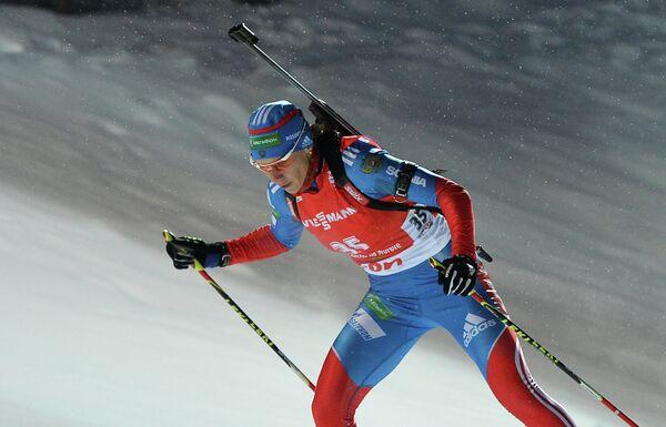 Ольга Зайцева на дистанции в индивидуальной гонке