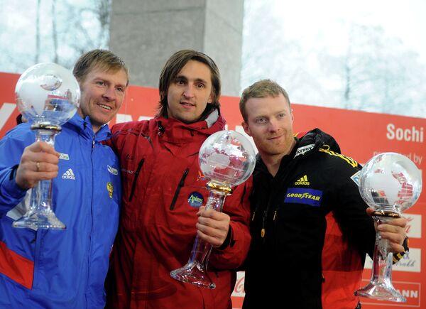 Александр Зубков, Оскарс Мелбардис и Мануэль Махата (слева на право)