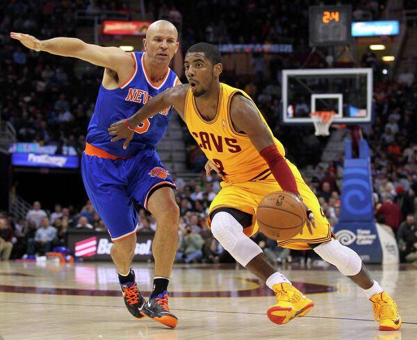Игровой момент матча НБА Нью-Йорк Никс - Кливленд Кавальерс