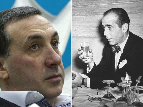 Евгений Гинер и Хамфри Богарт (слева направо)