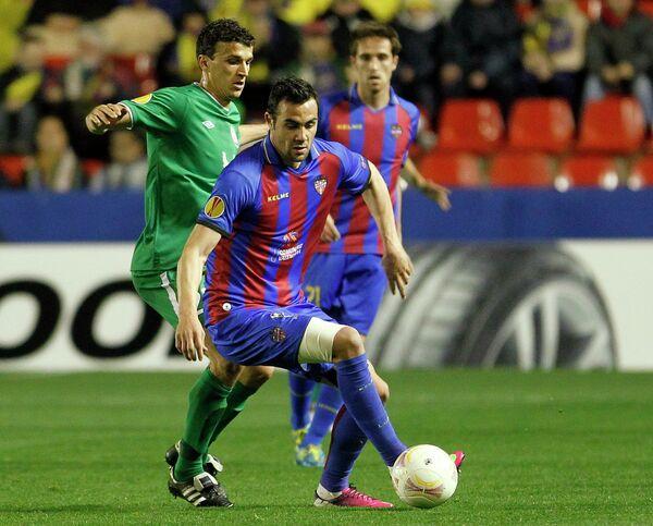 Игровой момент матча Леванте - Рубин