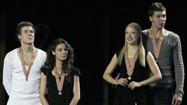 Никита Кацалапов, Елена Ильиных, Екатерина Боброва и Дмитрий Соловьев (слева направо)