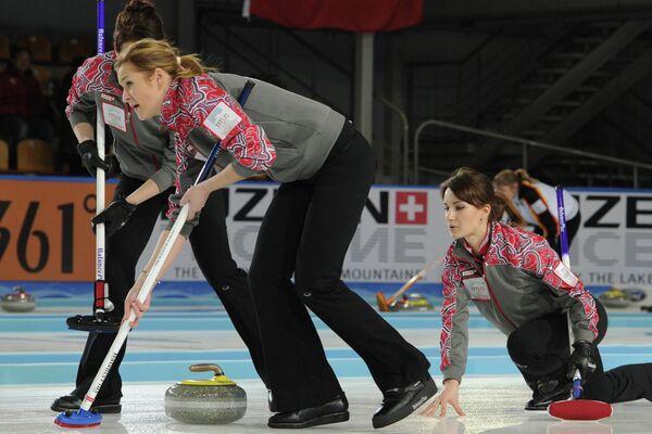 Керлинг. Чемпионат мира среди женщин. Матч США - Россия