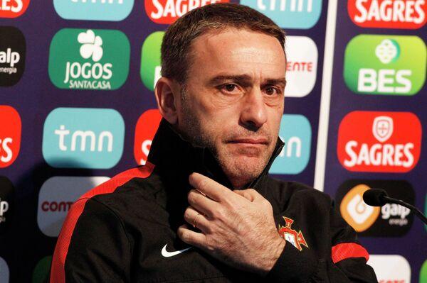 Главный тренер сборной Португалии Паулу Бенту