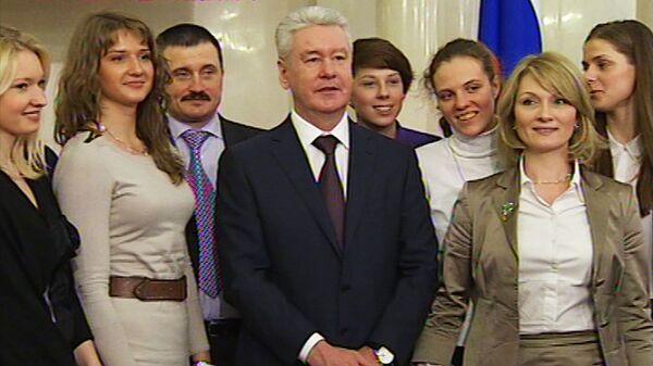 Баскетболистки Динамо получили награды мэра Москвы за победу в КE