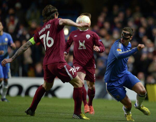 Игровой момент матча Челси - Рубин