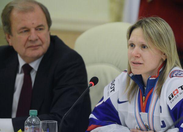 Встреча женской сборной России по хоккею
