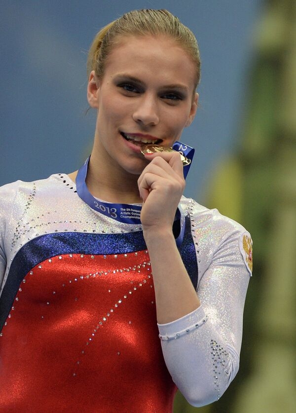 Российская гимнастка Ксения Афанасьева, завоевавшая золотую медаль