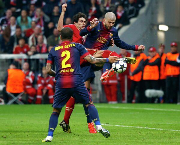 Игровой момент матча Бавария - Барселона
