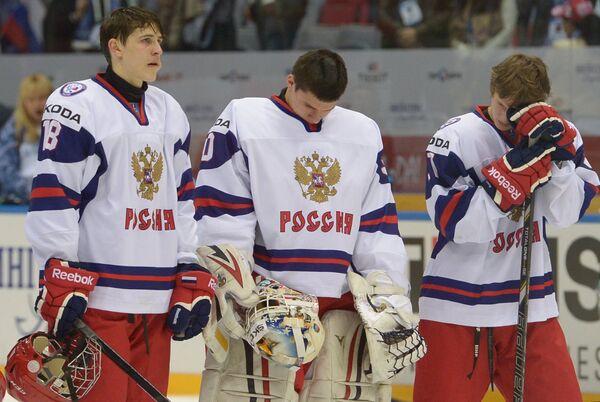 Хоккеисты юниорской сборной России