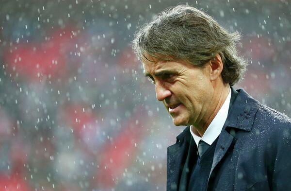 Главный тренер Манчестер Сити Роберто Манчини