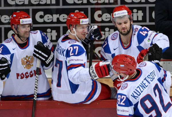 Хоккей. Чемпионат мира. Матч Австрия - Россия