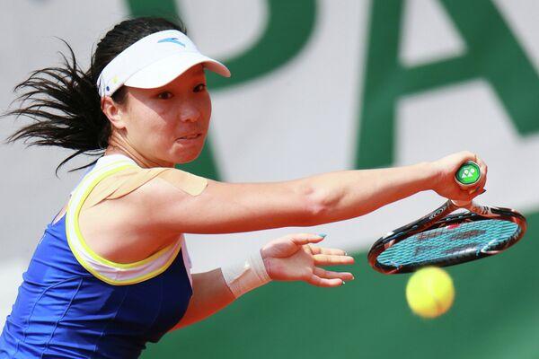 Китайская теннисистка Чжэн Цзе.