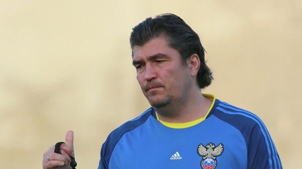 Тренировка молодежной сборной России по футболу
