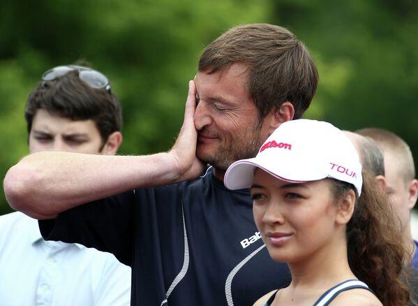Теннисист, тренер сборных команд России по теннису Александр Волков.