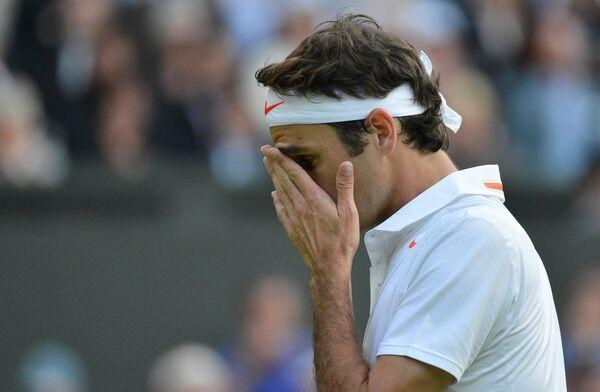 Роджер Федерер во втором круге Уимблдона