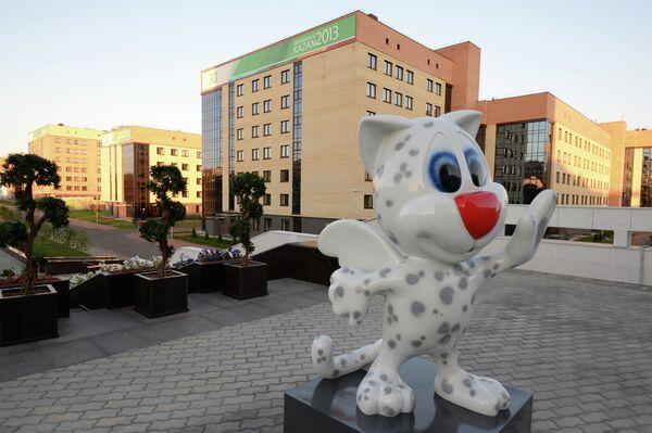 Талисман казанской Универсиады - котенок крылатого снежного барса Юни