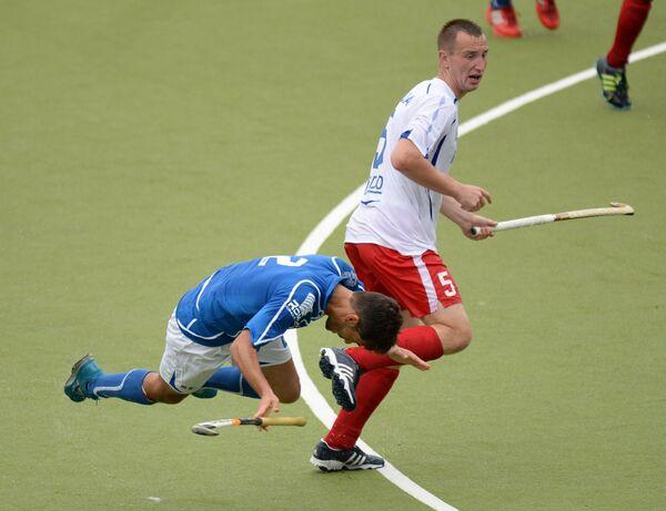 Игровой момент матча Россия-Италия