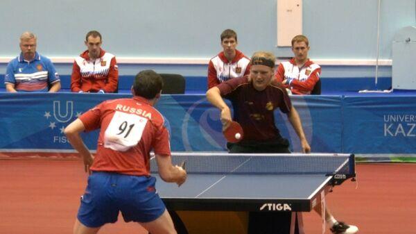 Сборные РФ по настольному теннису начали Универсиаду с побед. Кадры матчей