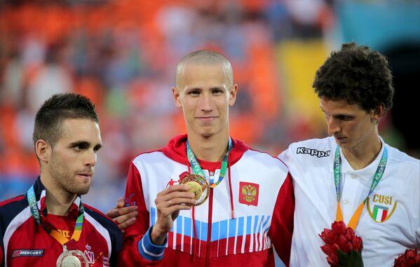 Себястьян Мартос Роа (Испания) - серебряная медаль, Ильгизар Сафиуллин (Россия) - золотая медаль, Патрик Насти (Италия) - бронзовая медаль.