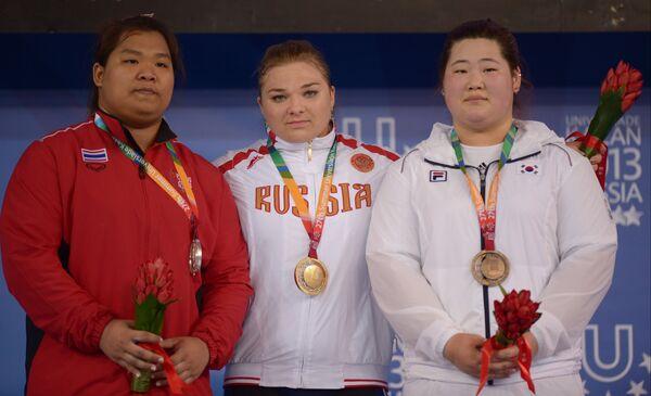 Читцанок Пулсабсакул, Татьяна Каширина и Хюсол Ли (слева направо)