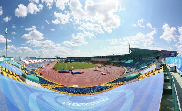 Вид на стадион Центральный в Казани