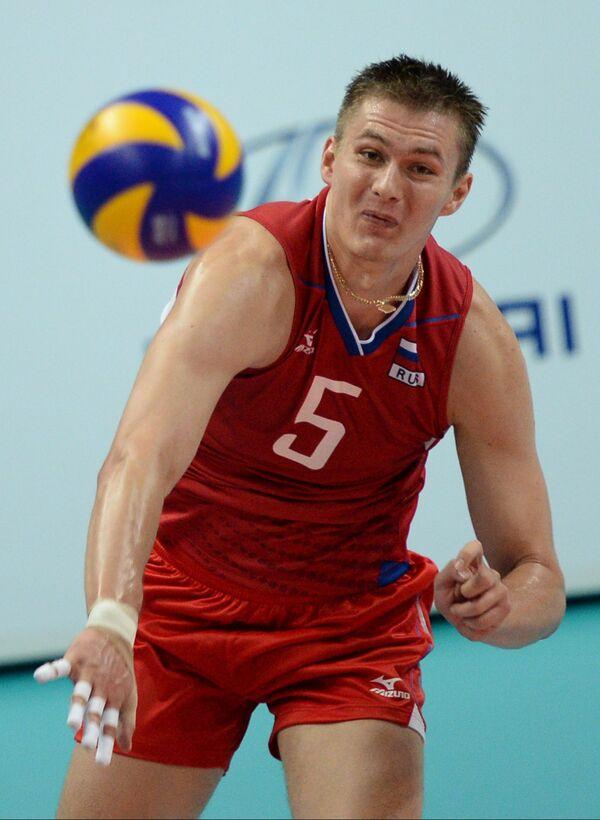 Игрок сборной России Олег Сычев
