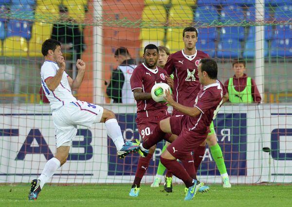 Игровой момент матча Рубин - Ягодина