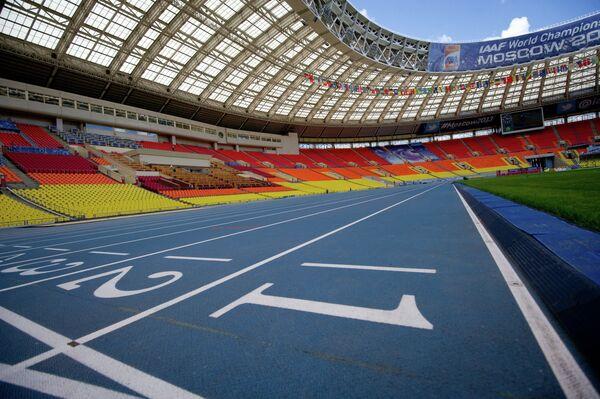 Стадион Лужники перед чемпионатом мира по легкой атлетике