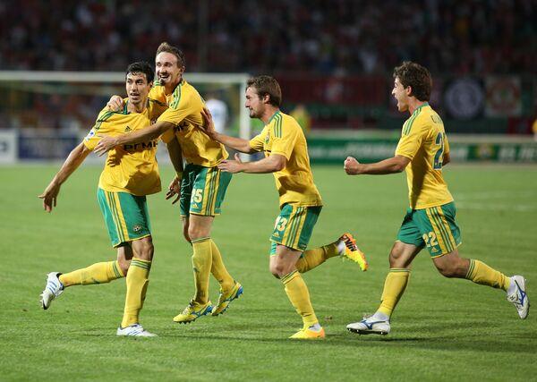 Игроки Кубани Шандао, Алексей Козлов, Роман Бугаев и Антон Соснин (справа налево)