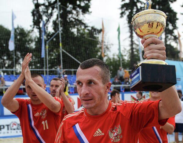 Игрок сборной России Юрий Горчинский