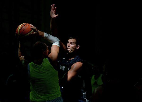 Баскетбол. Тренировка мужской сборной России