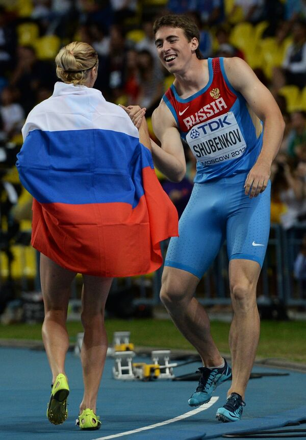 Российские спортсмены Антонина Кривошапка и Сергей Шубенков