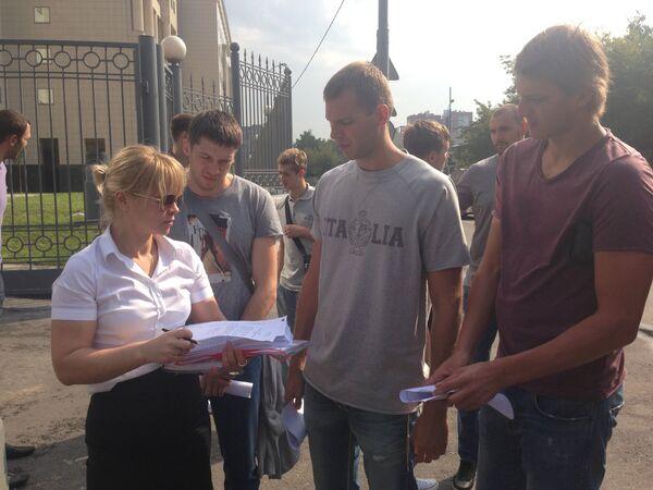 Адвокат Светлана Климова, экс игроки Динамо Сергей Моня и Евгений Воронов