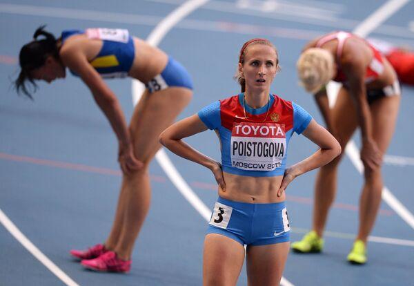 Екатерина Поистогова (Россия) после финиша в полуфинальном забеге на 800 м