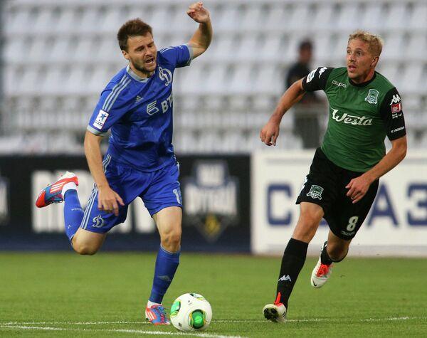 Игровой момент матча Краснодар - Динамо