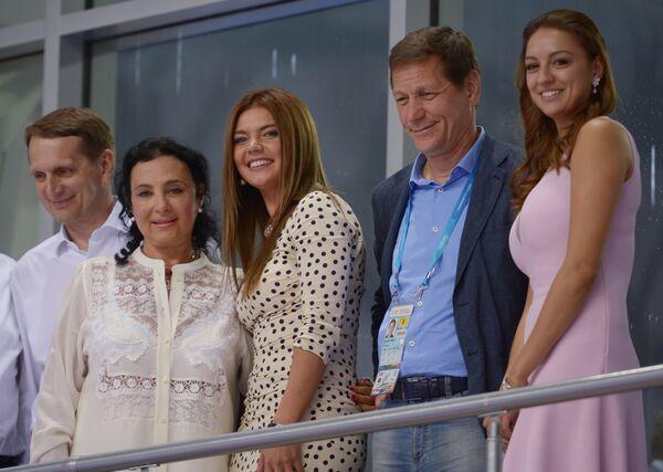Сергей Нарышкин,  Ирина Винер-Усманова,  Алина Кабаева,  Александр Жуков и Евгения Канаева (слева направо)