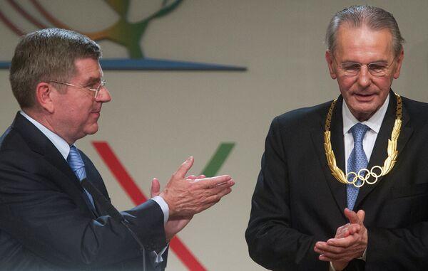 Томас Бах (слева) и Жак Рогге