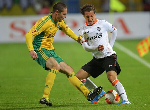 Игровой момент матча Кубань - Валенсия