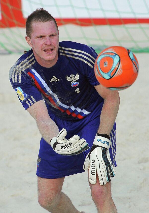 Вратарь сборной России Андрей Бухлицкий