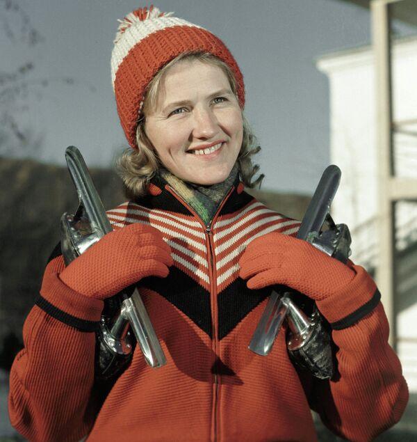 Чемпионка мира по конькобежному спорту Лидия Скобликова