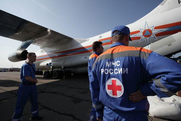 Спасатели и медицинские работники МЧС России