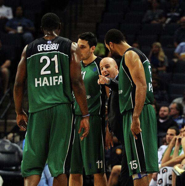 Баскетболисты израильского Маккаби (Хайфа)